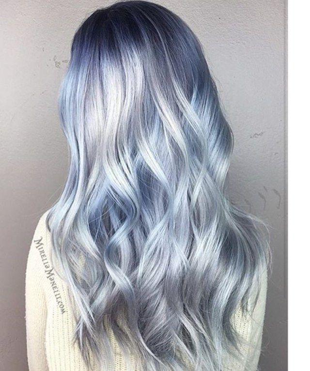Prettiest Pastel Hair Color Ideas Silver Blue Hair Icy Blue