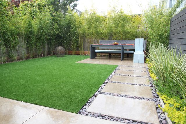 Irresistible Cool Backyard Designs for Relaxing Living Space Idea: Elegant And Clean Home Backyard Setting With Cool Backyard Designs Of Bamboo Covering The Fence And Wall ~ SFXit Design Garden