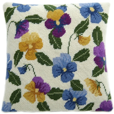 Cleopatra's Needle Herb Pillow Tapestry Cushion Kit - Pansy Garden