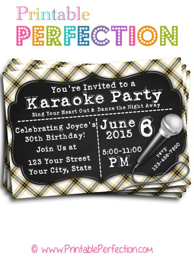 Custom Party Invitations Printable