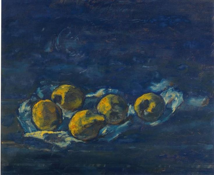 Albert Houthuesen – Still life of pear-quinces, 1960; Oil on canvas, 64x66.5cm