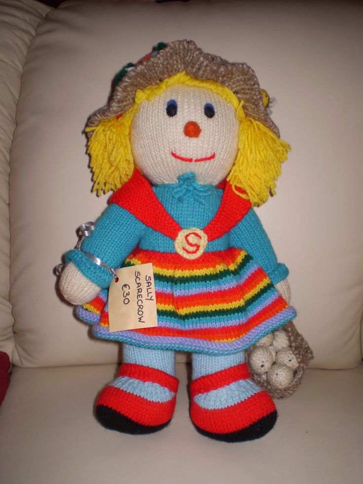 Sally Scarecrow 35cms high lots of details. Mail me for price.