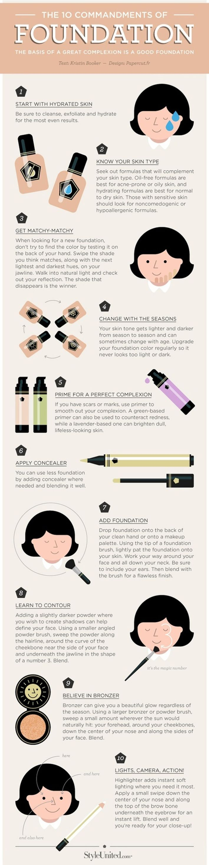 THE 10 COMMANDMENTS OF PERFECT FOUNDATION (HOW TO DO MAKEUP?) | Beauty Tips - Best Beauty Tips For Ladies - Beauty & Tips Magazine