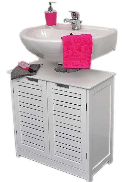 Amazon Com Evideco Non Pedestal Bath Under Sink Storage Vanity Cabinet Miami White Home Kitchen Sink Storage Under Sink Storage Bathroom Sink Storage
