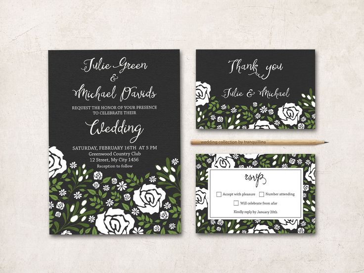 Shabby Chic Wedding Invitation Printable, Wedding Stationery Set - Floral Lilac Wedding Invitation Suite - pinned by pin4etsy.com