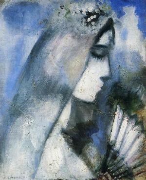 Marc Chagall, Nevěsta s ventilátorem, 1911 by LADY_VIOLA