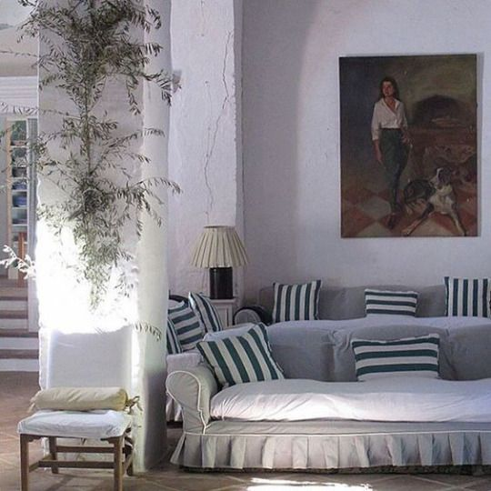 chic striped pillows