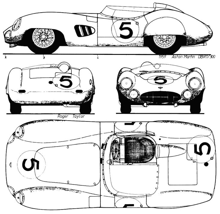 61 best blueprints cars images on pinterest cars art drawings 1959 aston martin dbr1 cabriolet blueprint malvernweather Image collections