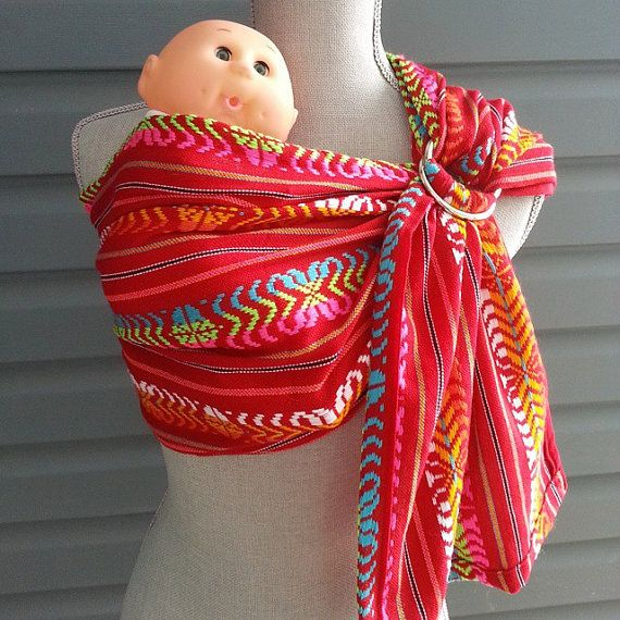 Ring Sling SALEWoven Doll Carrier Toy Sling Red Mayan by UchiWraps