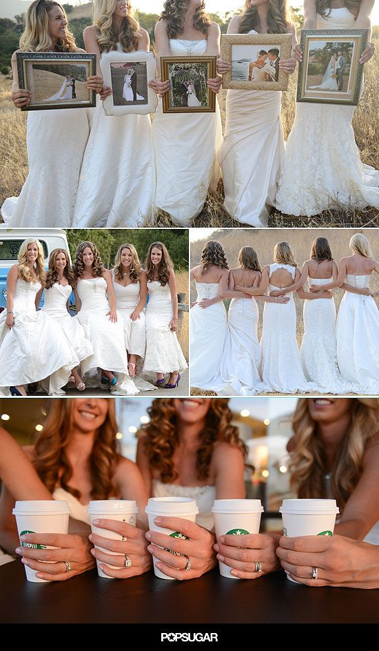 """This Sister Wedding Dress Shoot Is the Cutest Idea Ever- a sister photo shoot in their wedding dresses. While most brides would love any excuse to wear their wedding dress again, one of the sisters, Cassie Gant, explains their motivation: """"We did this shoot as a thank you to my parents for their love and support in not only our weddings, but in our marriages."""""""