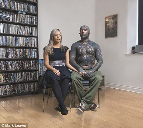 Seeing past the ink: Leaver chooses to shoot his tattooed subjects in intimate settings, w...