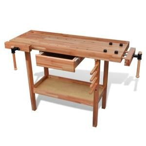 ETABLI - MEUBLE ATELIER Etabli de menuisier en bois avec tiroir et étaux