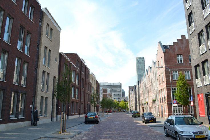De Christoffel Plantijnstraat met links Plantijn14 en rechts Haegsch Hof, beide Blauwhoed-projecten