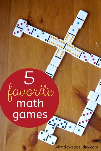Math games we own and love.