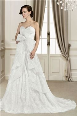 Summer A-line Fall Button Lace Floor-Length All Sizes Spring Wedding Dress