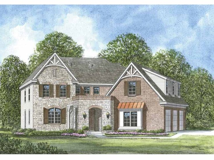 eplans cottage house plan cost efficient french country 3909 square feet and 4 bedrooms