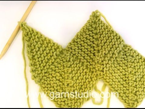 DROPS Knitting Tutorial: How to knit a half domino square (vertical). - YouTube