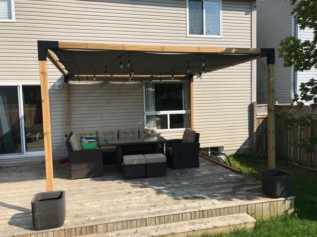Pergola Kit With Shade Sail For 4x4 Wood Posts Patio Outdoor Pergola Pergola Patio