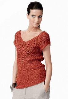 Sa invatam sa crosetam si sa tricotam: Bluza tricotata de vara de la Gedifra