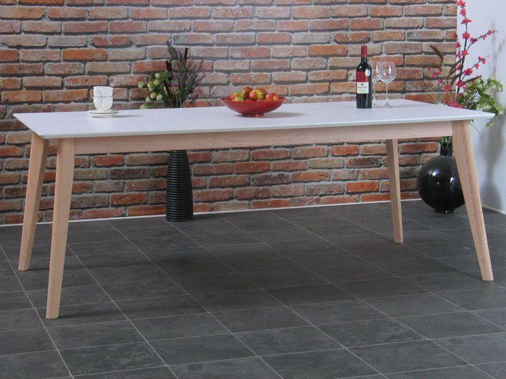 Esstisch Inger 200x100cm Holz Retro Esszimmer Tisch Kuchentisch Eiche Weiss Kuche Tisch Esstisch Kuchentisch
