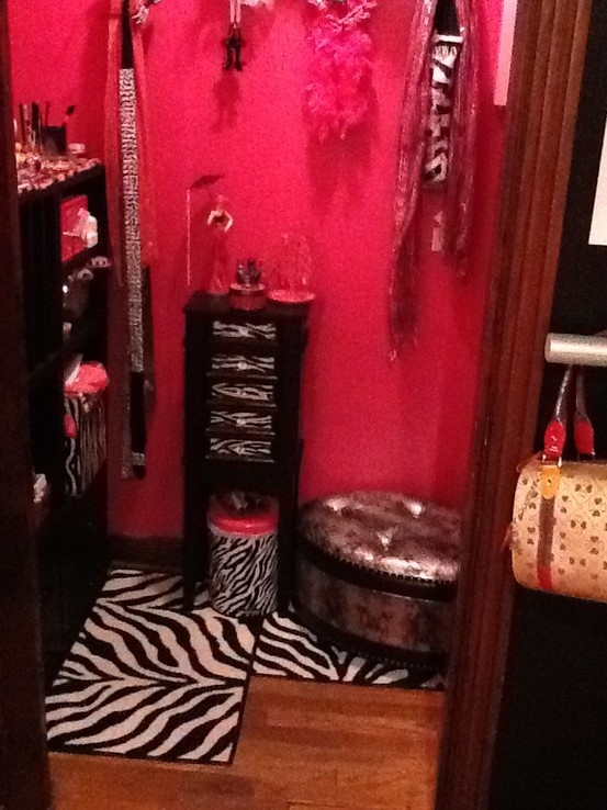 Walk In Closet Pink And Zebra My Future House Wink Wink