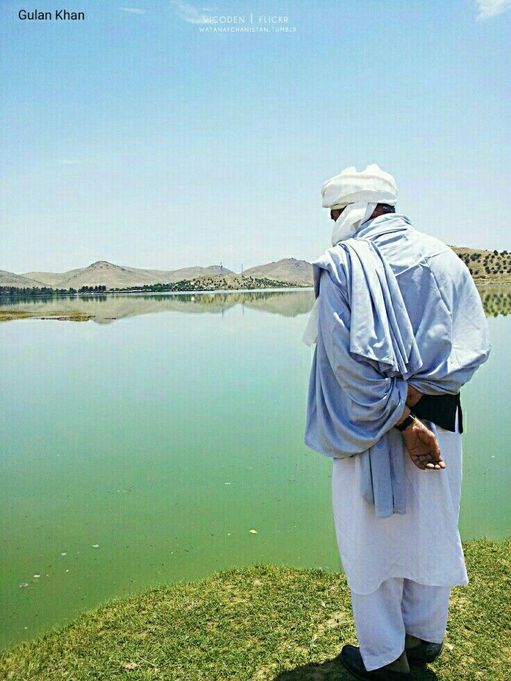 Awesome beauty wonderful lake view Kabul Afghanistan