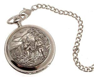 Pocket watch - Solid pewter fronted mechanical skeleton pocket watch - Ramblers design 35 AEW. $99.00
