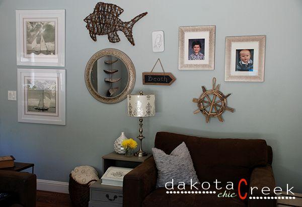 Coastal Gallery Wall at Dakota Creek Chic