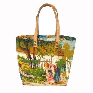 Collection Artisanale de Sacs Cabas, canevas vintage , A French Tote Bag Collection, French needlepoint tapestry leshopdemoz.com