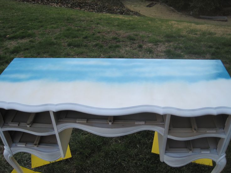 I'm buying a cheap, ugly table from craigslist and I plan on painting it. As of right now, this is the route I am going to take!