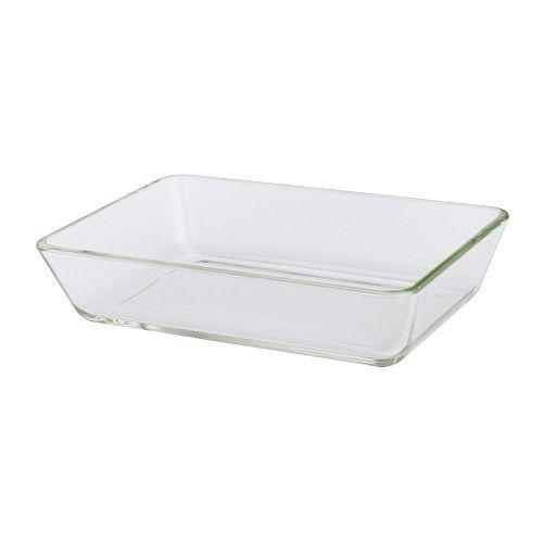IKEA - MIXTUR, Ofenform, 27x18 cm, , Kleine Größen lassen sich nach Gebrauch Platz sparend in größere Behälter aus der Serie stapeln.