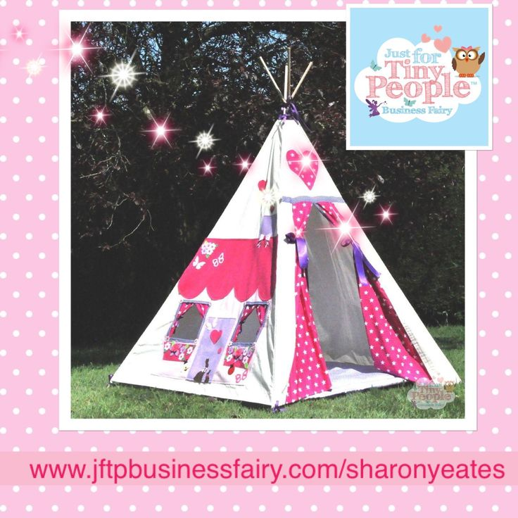 This teepee is the best secret den a tiny person could ask for, modelled on a cute country cottage. With pink, dotty curtains and heart shaped embellishments, it's perfect for sleepovers, tea parties and quiet time.   Carefully handmade with love by our sewing fairies, all of our teepees are designed with tiny people in mind, though they do fit some big people inside them too.   EVERYTHING YOU NEED TO KNOW: - A children's magical teepee is approximately 145cm tall and 120cm square at the…