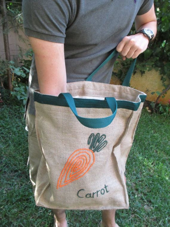Carrot Jute market tote farmers bag chic stylish by Apopsis