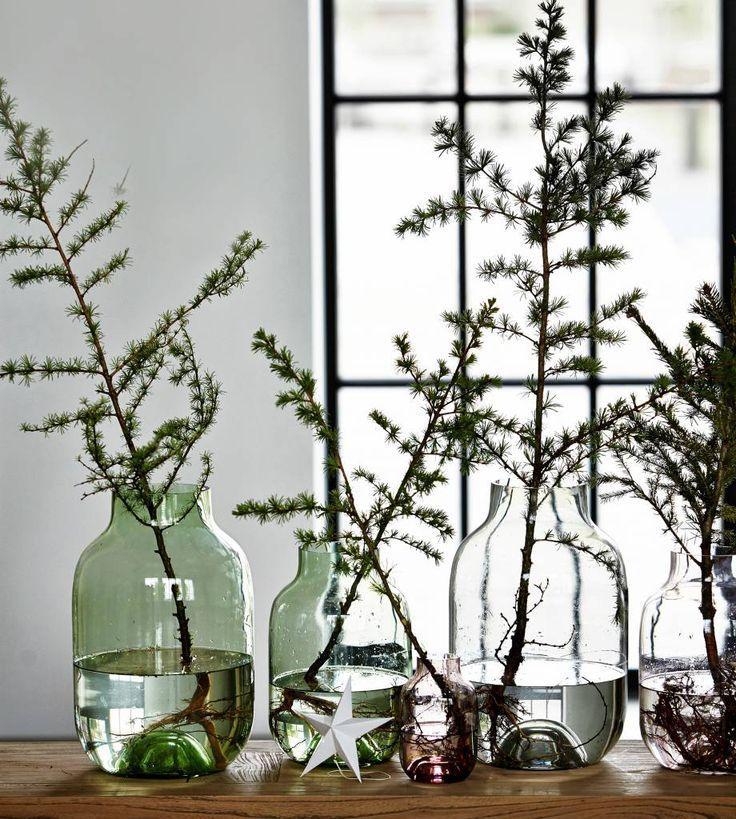 23++ Vase glas gruen gross Sammlung