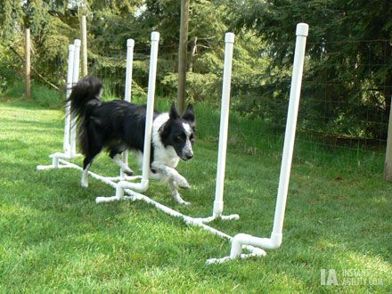 """Adjustable """"Channel"""" Weave Poles >> I already made two hurdles from this website - can't wait to try this out!"""