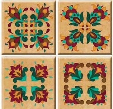 Renaissance TileStix 4-Piece Peel and Stick Tile traditional-wall-decals