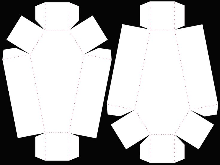 Coffin-shaped treat box.  There are some excellent free templates here while they last - she's posted that she is moving them to http://www.birdscards.com/store/, and will only keep them as .svg files once they've been moved.  But this pin can still be printed out as a template.