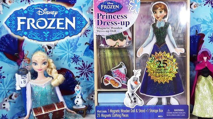 www.youtube.com/user/disneytoybox?sub_confirmation=1 Disney Frozen Princess Anna Dress Up Magnetic Wooden Doll with Coronation Dress Muñeca de madera  #Frozen #PrincessElsa #Elsa #Doll #Disney #Princess