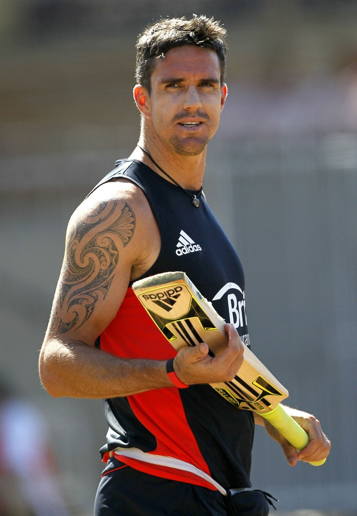 Kevin Pietersen. A joy to behold. Wrong colour blusher though.
