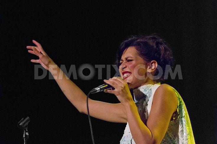 Simona Molinari live on stage at Auditorium Parco della Musica in Rome