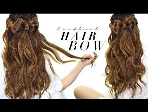 747 best hair images on pinterest chignons hair makeup and hairdos how to do a half up half down hair bow bun hairstyle on yourself hair bows for medium or long hair solutioingenieria Image collections