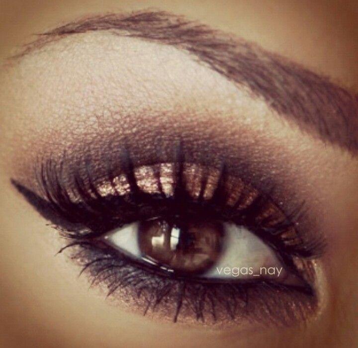 Love this look on brown eyes x