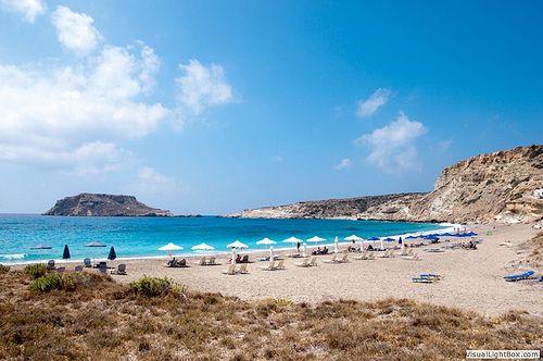 Lefkos Beach in Karpathos Island