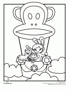 Paul Frank Characters Coloring Pages to Print