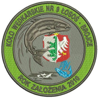 Naszywka Koło wędkarskie nr 9 Łosoś Brojce
