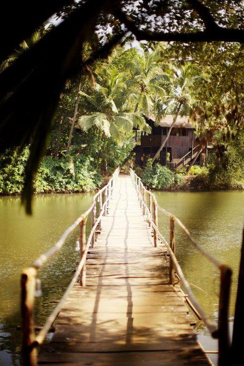 A long bridge to a peaceful escape: Spaces, Favorite Places, Dream, Goa, Beautiful, India, Travel, Things, Bridges