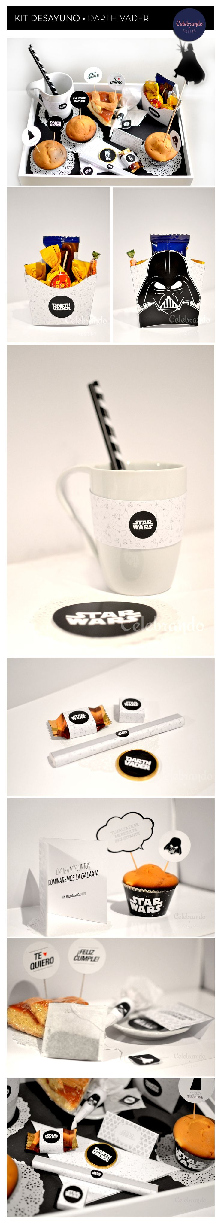 Kit imprimible de Darth Vader - Celebrando Fiestas #identity #packaging #branding PD