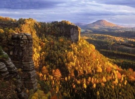 Herfst in Tsjechië.