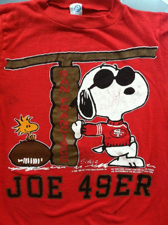 Vintage 80s Joe 49er Tshirt Original San Francisco Snoopy