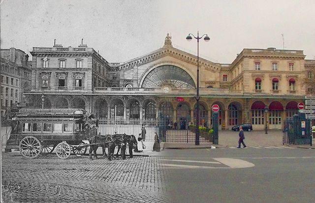 La Gare de l'Est, avant, après – dans le 10ème arrondissement (Crédit Image : Golem 13)